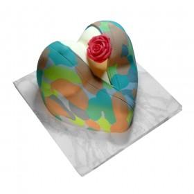 Торт на 23 февраля в форме женской груди