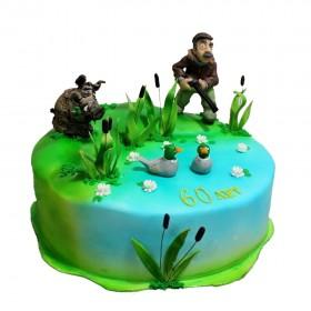 Торт на 23 февраля для охотника
