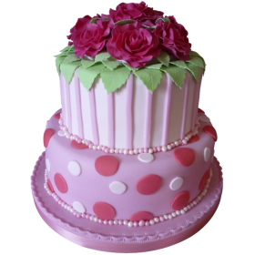 Торт праздничный с розами