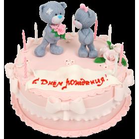 Торт праздничный с Мишками