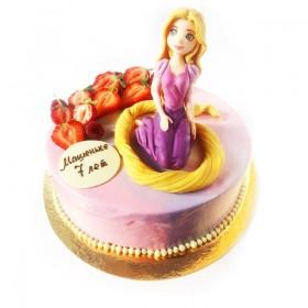 Детский торт для девочки с ягодами