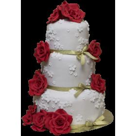 Торт Свадебный  модель 042